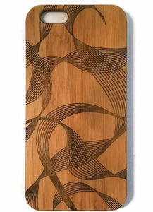 Ribbons bamboo wood iPhone case for iPhone 6, iPhone 6s, iPhone 6 plus, iPhone 7, iPhone 7 plus, iPhone 8, iPhone 8 plus, iPhone X, XS, XR, XS Max