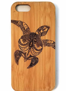 Sea Turtle bamboo wood iPhone case for iPhone 6, iPhone 6s, iPhone 6 plus, iPhone 7, iPhone 7 plus, iPhone 8, iPhone 8 plus, iPhone X, XS, XR, XS Max
