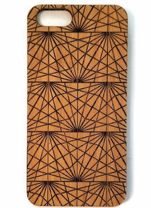 Triangles bamboo wood iPhone case for iPhone 6, iPhone 6s, iPhone 6 plus, iPhone 7, iPhone 7 plus, iPhone 8, iPhone 8 plus, iPhone X, XS, XR, XS Max