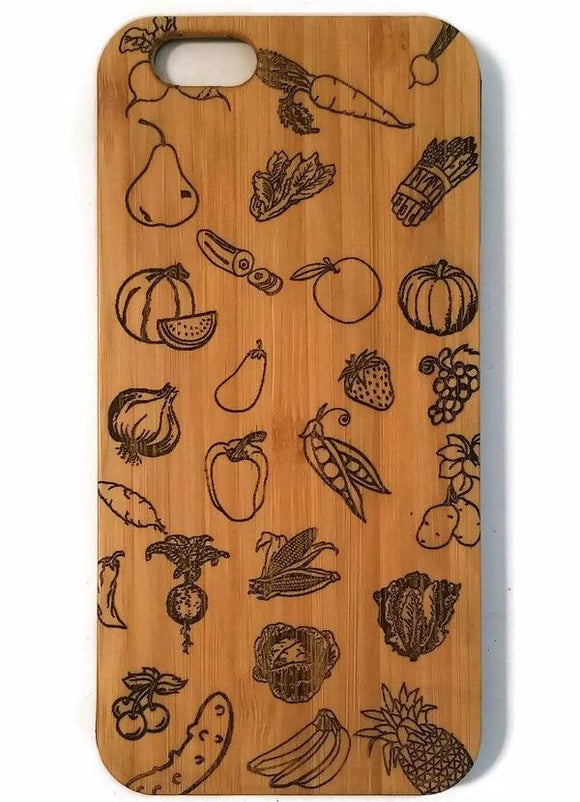 Vegan bamboo wood iPhone case for iPhone 6, iPhone 6s, iPhone 6 plus, iPhone 7, iPhone 7 plus, iPhone 8, iPhone 8 plus, iPhone X, XS, XR, XS Max