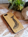 Whale bamboo wood iPhone case for iPhone 6, iPhone 6s, iPhone 6 plus, iPhone 7, iPhone 7 plus, iPhone 8, iPhone 8 plus, iPhone X, XS, XR, XS Max