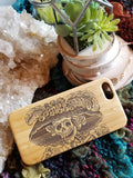 Day of the Dead Skull bamboo wood iPhone case, XS, XR, XS Max