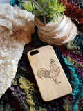 Geometric Chicken bamboo wood iPhone case for iPhone 6, iPhone 6s, iPhone 6 plus, iPhone 7, iPhone 7 plus, iPhone 8, iPhone 8 plus, iPhone X, XS, XR, XS Max