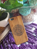 Tribal Waves wood iPhone case for iPhone 6, iPhone 6s, iPhone 6 plus, iPhone 7, iPhone 7 plus, iPhone 8, iPhone 8 plus, iPhone X, XS, XR, XS Max