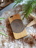 Geometric Eye bamboo wood iPhone case for iPhone 6, iPhone 6s, iPhone 6 plus, iPhone 7, iPhone 7 plus, iPhone 8, iPhone 8 plus, iPhone X, XS, XR, XS Max