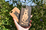 I Love My Cat  bamboo wood iPhone case iPhone 6, iPhone 6s, iPhone 6 plus, iPhone 7, iPhone 7 plus, iPhone 8, iPhone 8 plus, iPhone X, XS, XR, XS Max