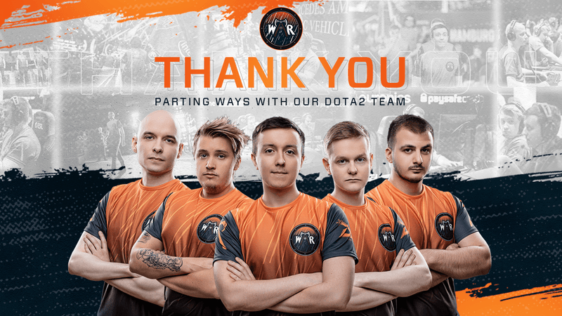 Wind and Rain parted ways Dota 2 roster
