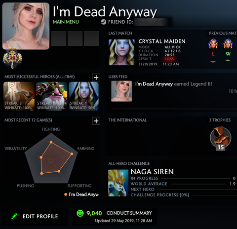 Legend II | MMR: 3290 / TBD