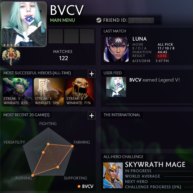 Legend V | MMR: 3523 / TBD