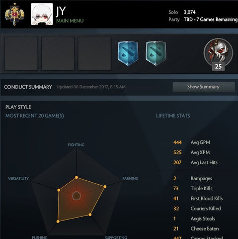 Legend | MMR: 3074 / TBD
