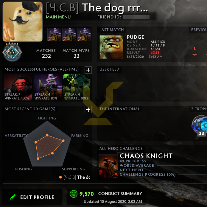 Crusader V | MMR: 2060 - Behavior: 9570