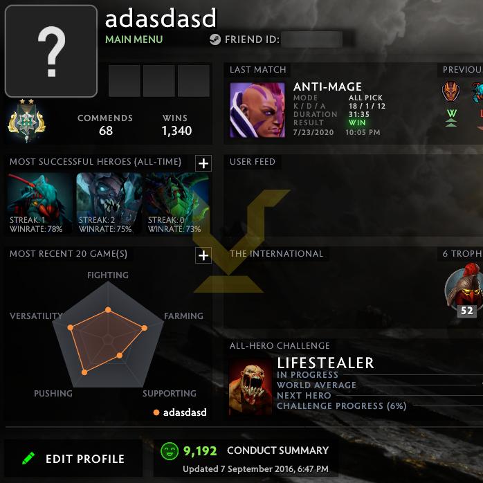Archon II | MMR: 2480 - Behavior: 9192