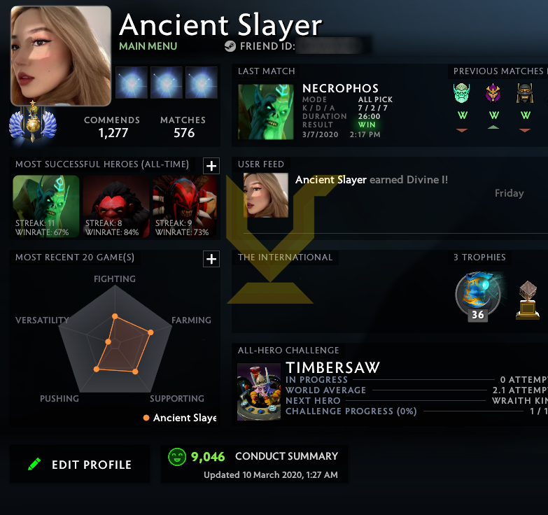 Divine I | MMR: 4720 - Behavior: 9046