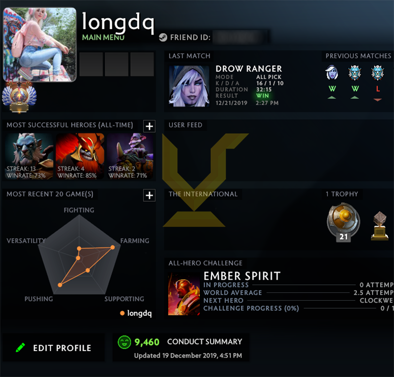 Immortal | MMR: 5750 - Behavior: 9460