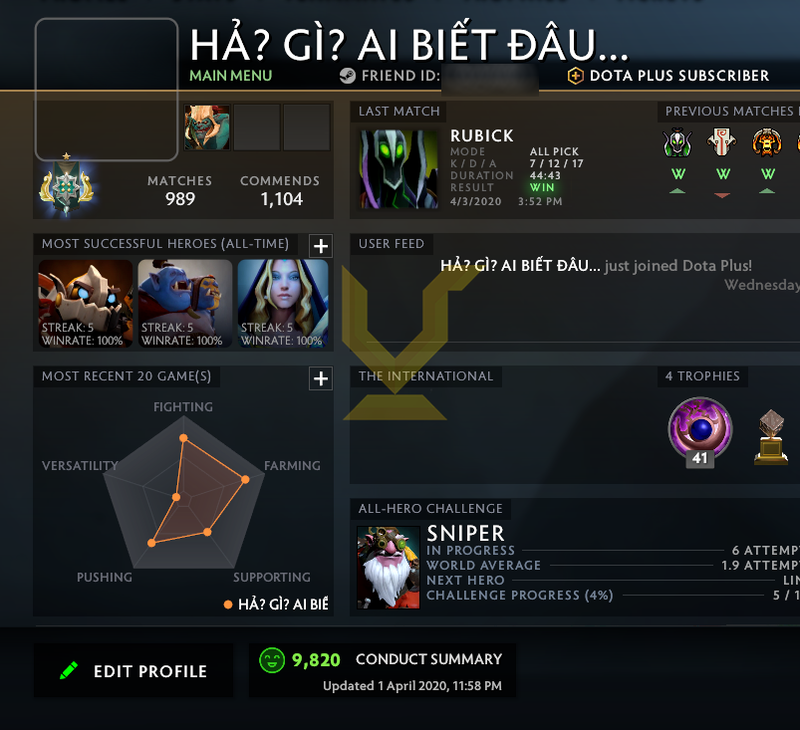 Archon I | MMR: 2430 - Behavior: 9820