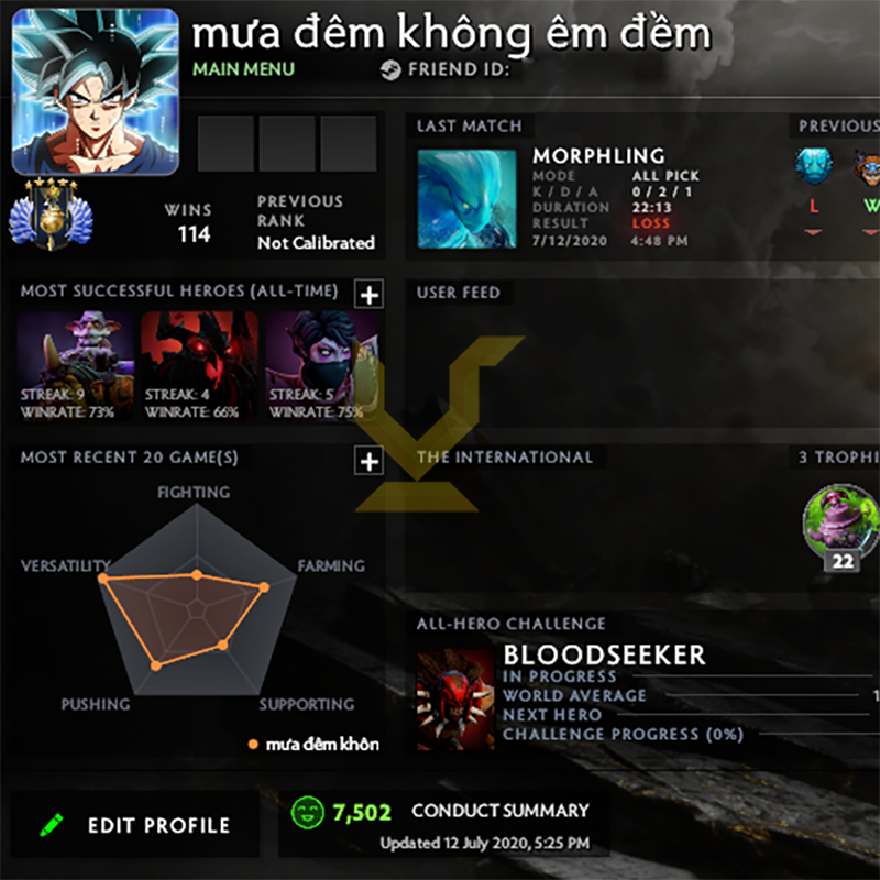 Divine V | MMR: 5530 - Behavior: 7502