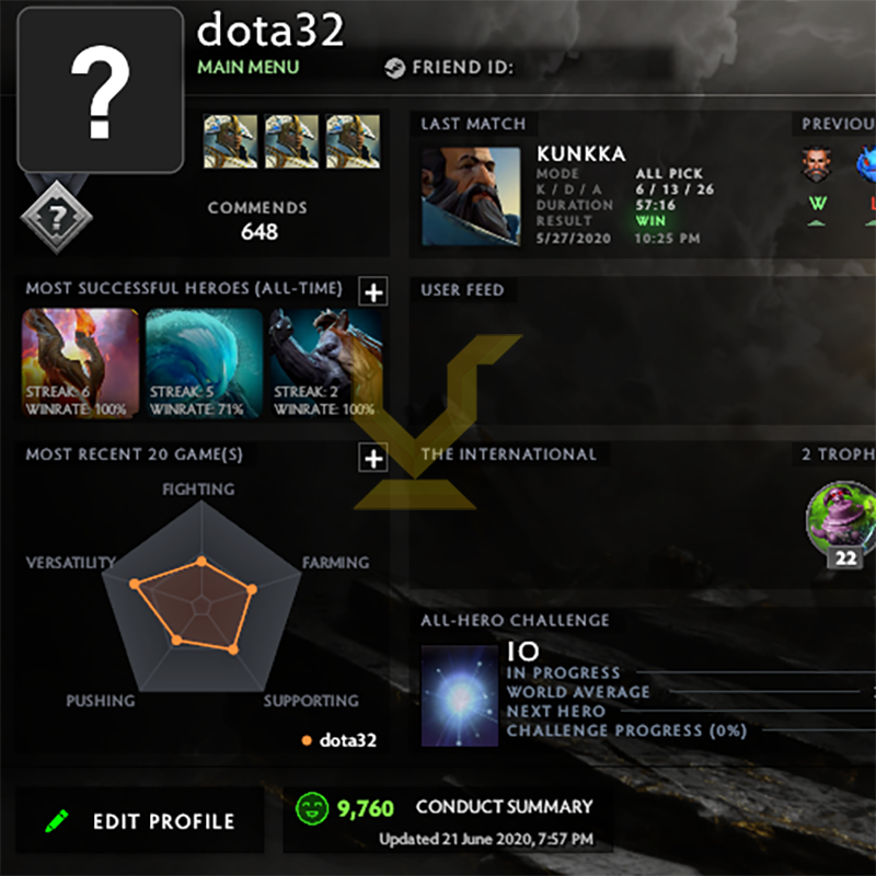 Uncalibrated | MMR: TBD - Behavior: 9760