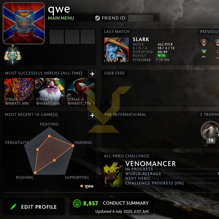 Archon I | MMR: 2390 - Behavior: 8857