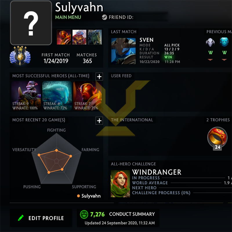 Divine IV  | MMR: 5220 - Behavior : 7276