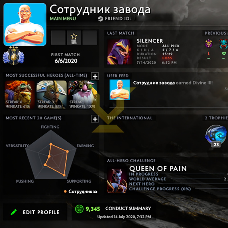 Divine III | MMR: 5050 - Behavior: 9345