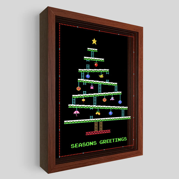 8-Bit Christmas Tree Shadowbox Art