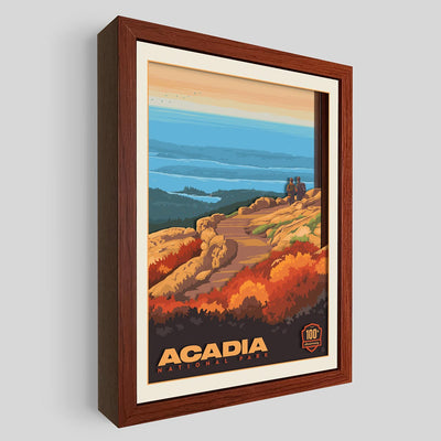 Acadia National Park Shadowbox Art
