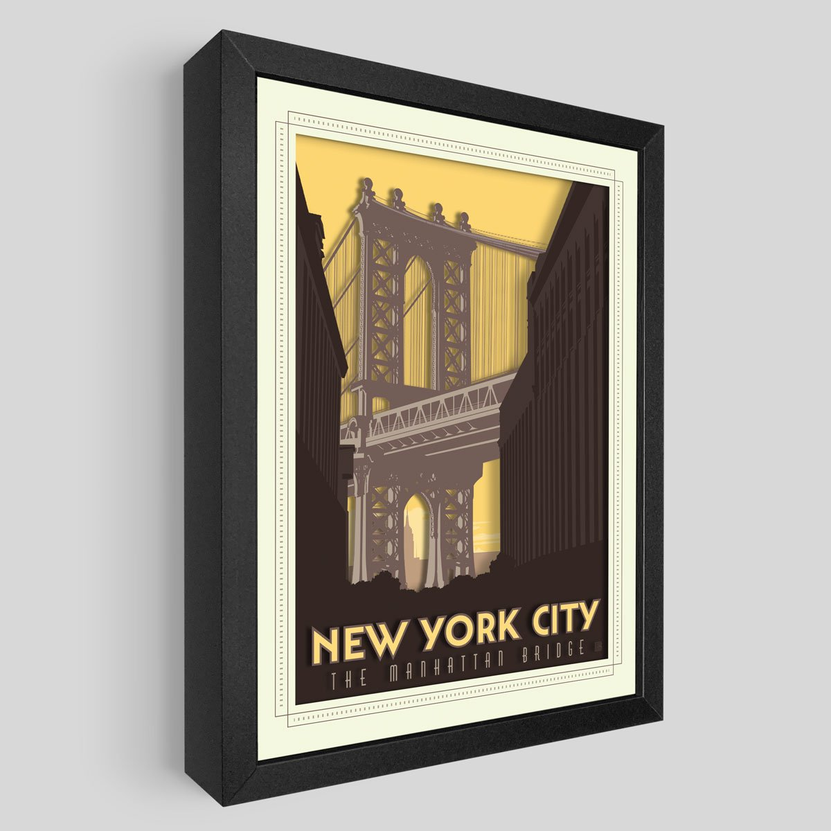 Manhattan Bridge Shadowbox Art
