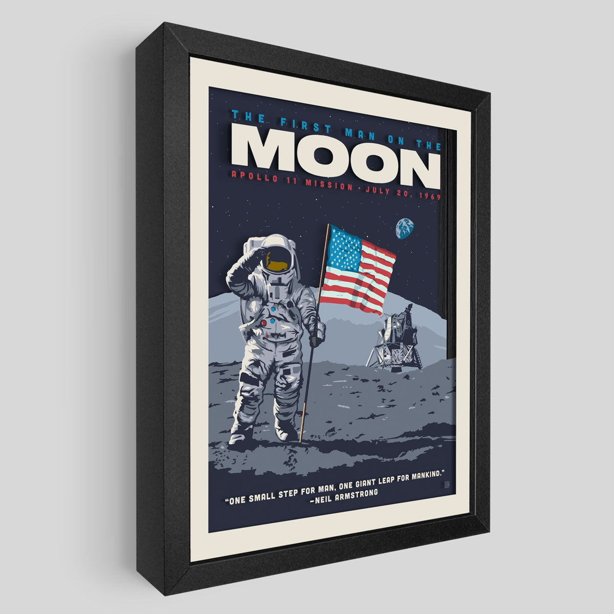 Apollo 11 Shadowbox Art