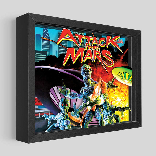 Attack From Mars Shadowbox Art