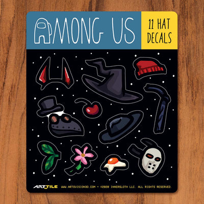 Among Us: Art Tile Crewmate Decals - Hats