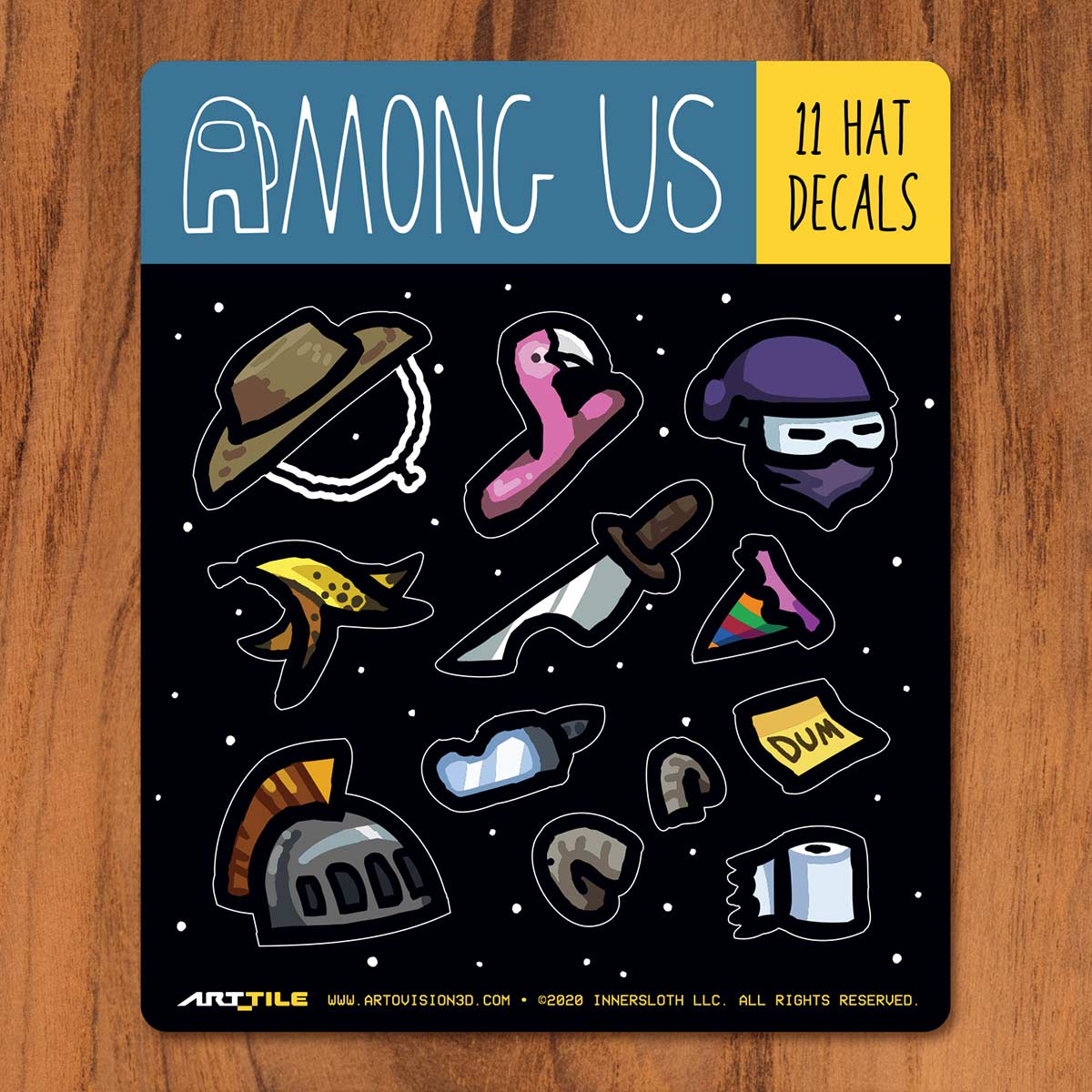 Among Us: Art Tile Crewmate Decals - More Hats