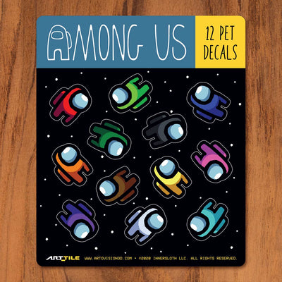Among Us: Art Tile Crewmate Decals - Mini Crewmate Pets