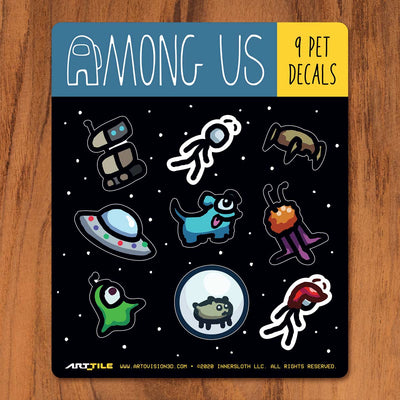 Among Us: Art Tile Crewmate Decals - Pets