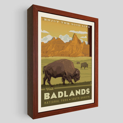 Badlands National Park Shadowbox Art