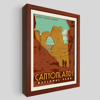 Canyonlands National Park Shadowbox Art