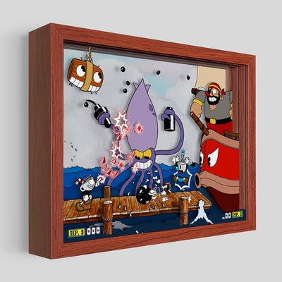 Cuphead Captain Brineybeard Shadowbox Art