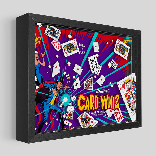 Card Whiz/Royal Flush Pinball Shadowbox Art