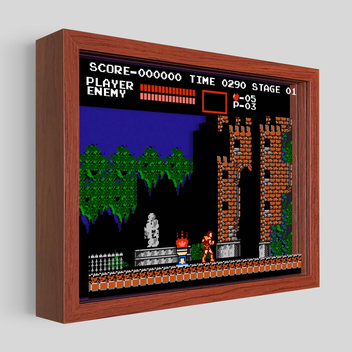 Castlevania Shadowbox Art
