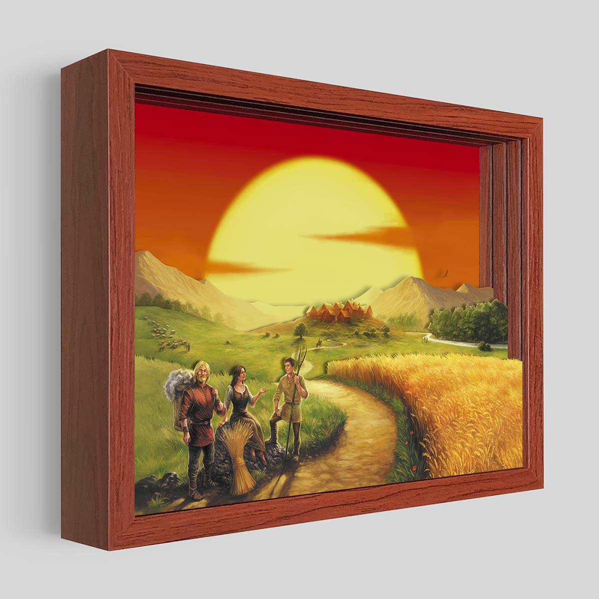 CATAN Shadowbox Art