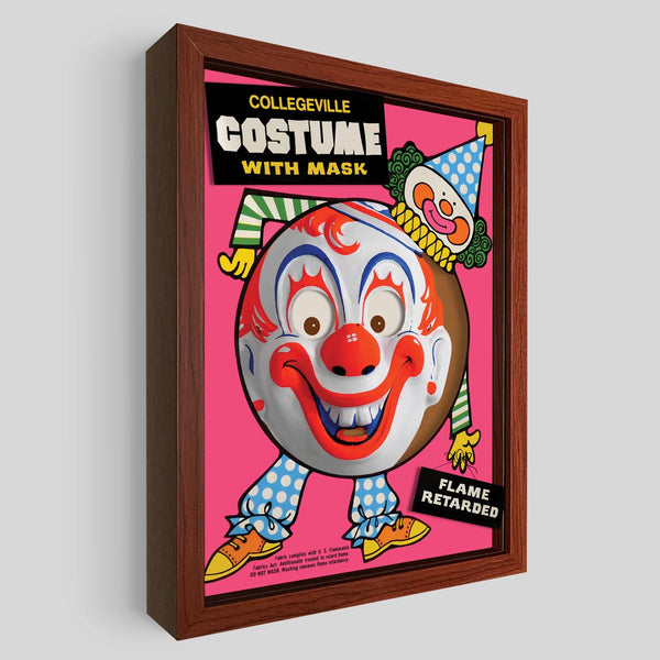 Clown Shadowbox Art