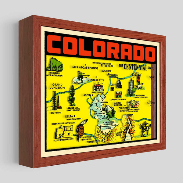 Colorado Shadowbox Art