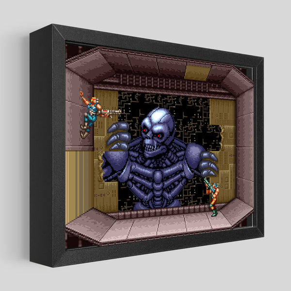 Contra III Shadowbox Art