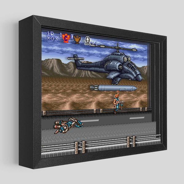 Contra III Missile Ride Shadowbox Art