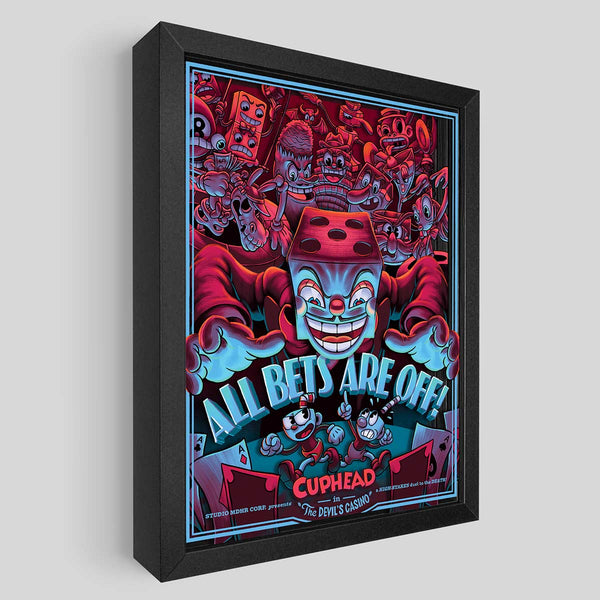 Cuphead All Bets Are Off Limited Edition Shadowbox Art