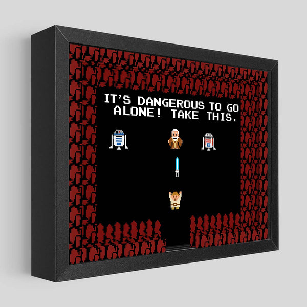 Dangerous Alone Shadowbox Art