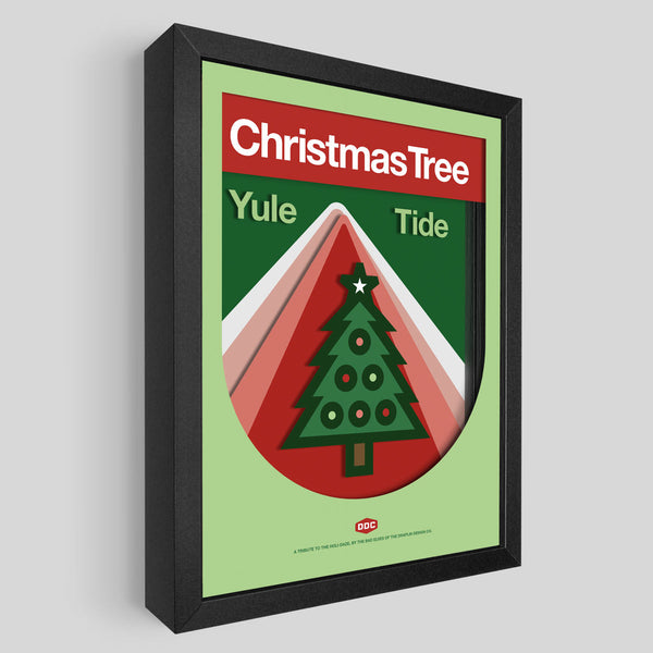 DDC Christmas Tree Shadowbox Art