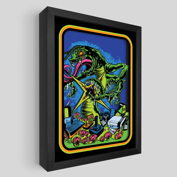 Centipede Shadowbox Art