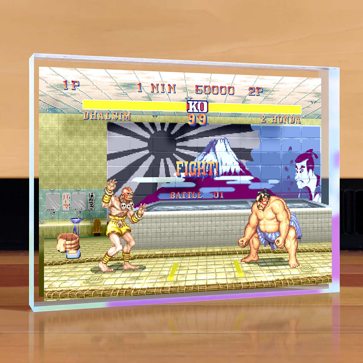 Street Fighter Desktop Art - E. Honda vs Dhalsim
