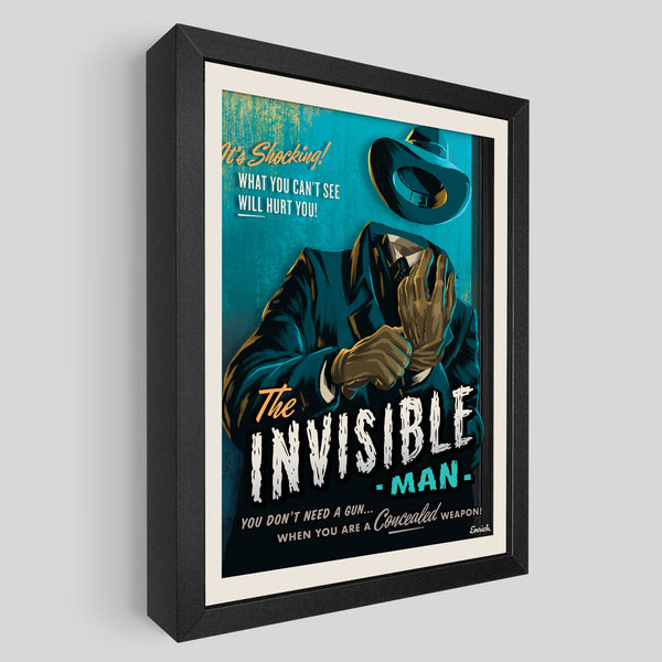 Invisible Man Shadowbox Art