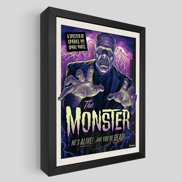 The Monster Shadowbox Art